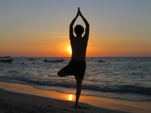 The firs time I tried yoga was in Thailand, overlooking the ocean