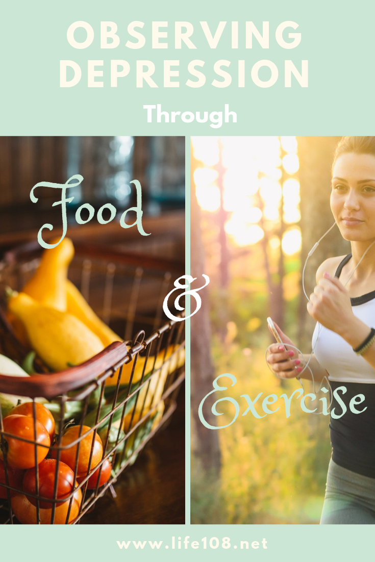 Observing Depression through food and exercise