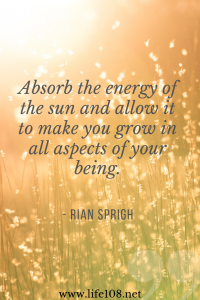 Absorb the energy of the sun