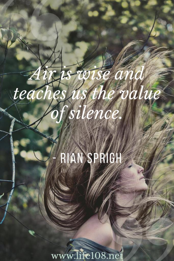 Air teaches us the value of silence