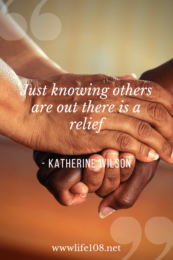 Even if you are a community of two, that is a mental relief.