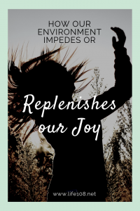 How our environment can impede or replenish our joy