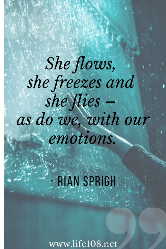 Water flows, she freezes and she flies