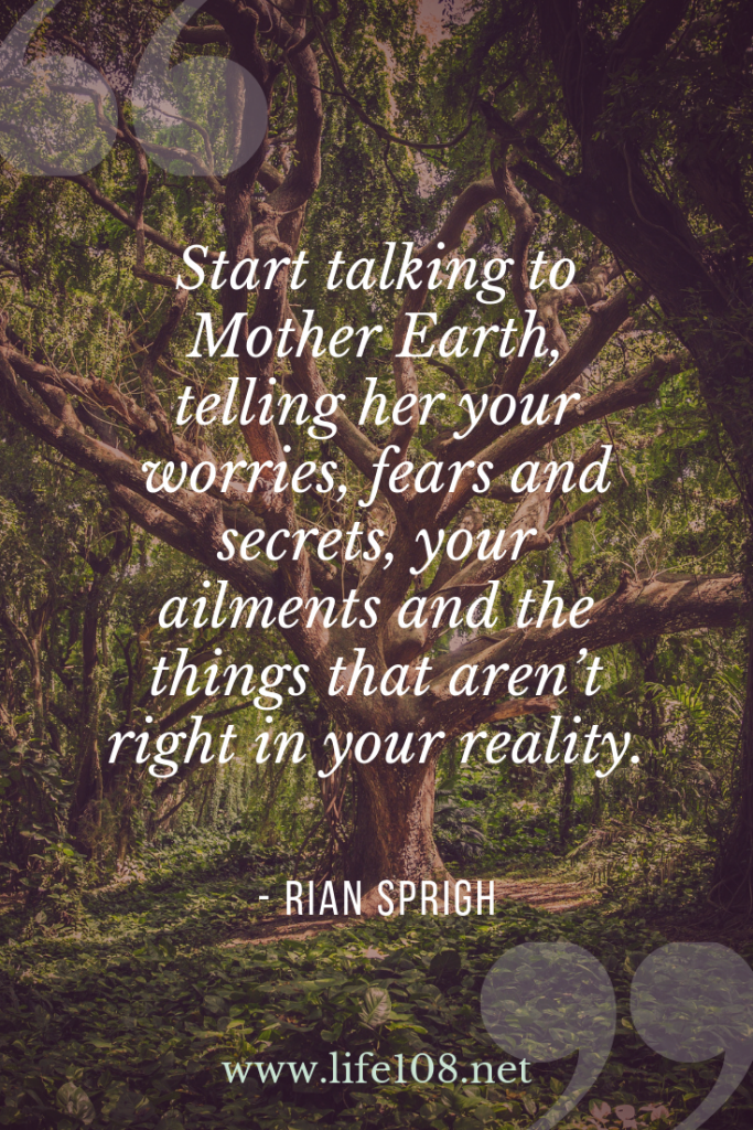 Start talking to Mother Earth