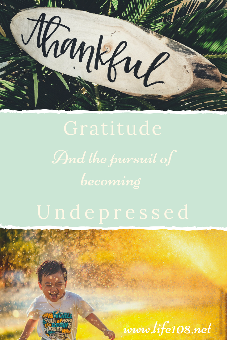 Gratitude and the pursuit of becoming undepressed