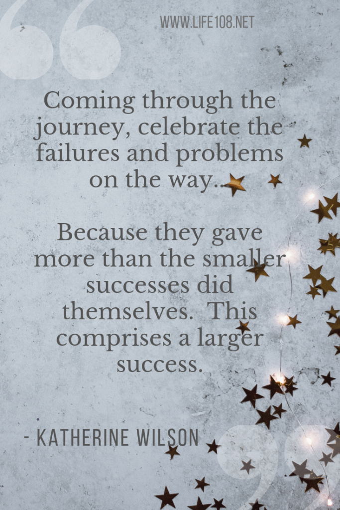 Celebrate the failures and problems on the way
