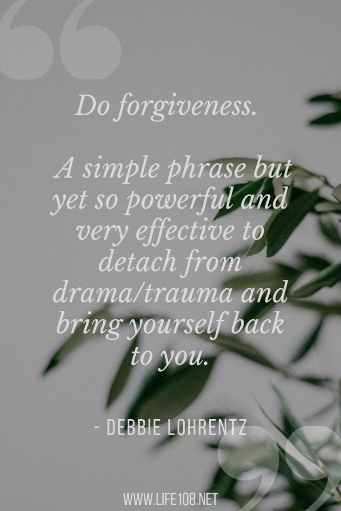 Do Forgiveness