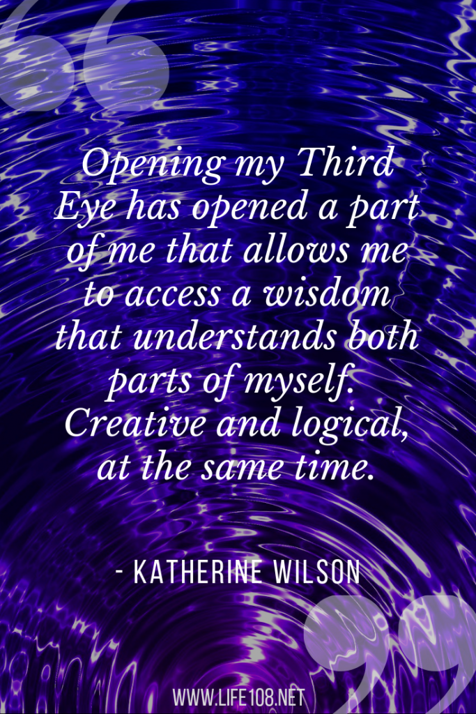 opening it has opened a part of me that allows me to access a wisdom that understands both parts of myself. Creative and logical, at the same time.