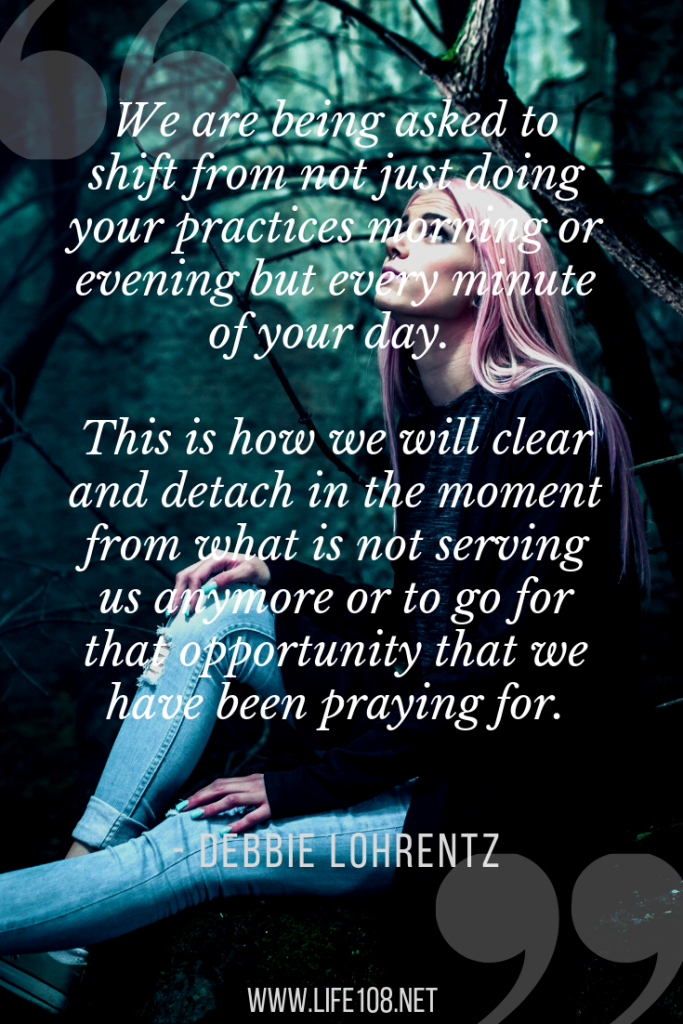 We are being asked to shift and detach