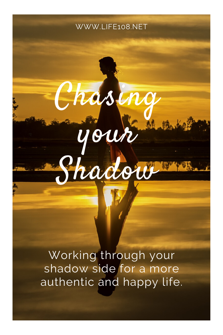 Chasing your shadow –  Working through your shadow side for a more authentic and happy life.