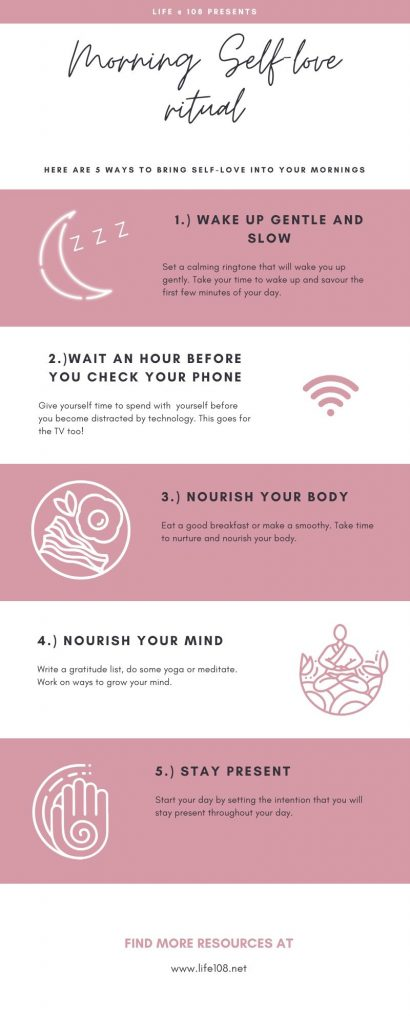 Morning self-love infographic